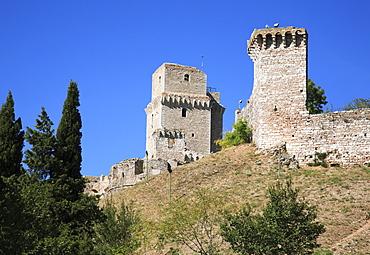 Castle of Rocca Maggiore, Assisi, Umbria, Italy