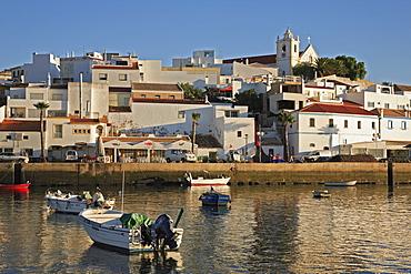 Ferragudo and Rio Arade in the evening light, Algarve, Portugal