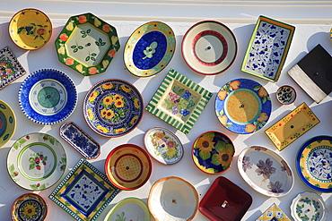 Ceramic seller, facade decoration, near Sagres, Algarve, Portugal