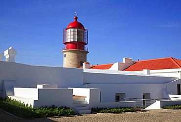 Lighthouse at the Cabo de Sao Vicente, Algarve, Portugal