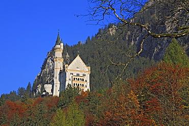 Neuschwanstein Castle, Schwangau near Fuessen, Bavaria, Germany