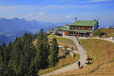 Tegelberg hut, Tegelberg mountain, Schwangau, Bavaria, Germany