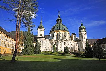 Baroque Benedictine Ettal Abbey, County Garmisch-Partenkirchen, Bavaria, Germany, Europe