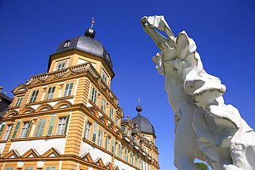 Schloss Seehof Palace, Memmelsdorf, near Bamberg, Upper Franconia, Bavaria, Germany, Europe
