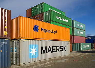 Various shipping containers
