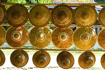 Straw hats, Mingun, Mandalay, Myanmar (Burma), Southeast Asia
