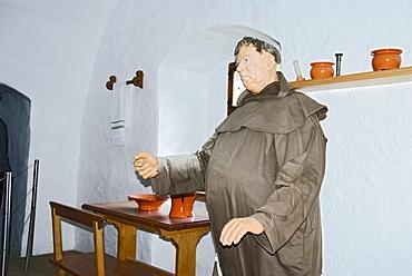 Museum, monk, Pred Jamski Castle, Slovenia, Europe