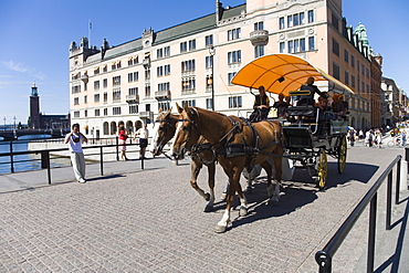 Coach ride for sightseeing in Stockholm, Sweden, Scandinavia, Europe