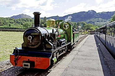 Dalegarth for Booth (Boot), GBR, 20. Aug. 2005 - Steam locomotive of Ravenglass Railway on station Dalegarth for Booth in the Lake Distrct.