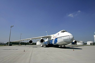 Munich, GER, August 30th 2005 - Antonov 124 on Airport Munich. The AN 124 is the second largest air freighter in the world.