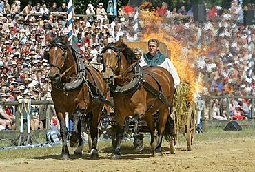 Kaltenberg, GER, 03. July 2005 - Knight plays in Kaltenberg nearby Munich.