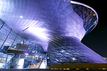 Building of the new BMW world in Munich. The BMW world was opened in Oct. 2007. Munich Bavaria Germany
