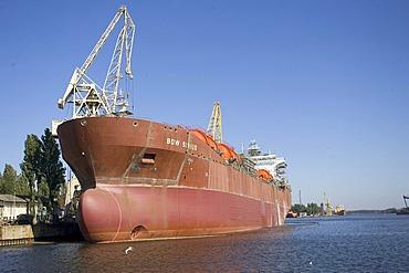 Building a tanker, Stettin, Szczecin, West Pomerania, Poland