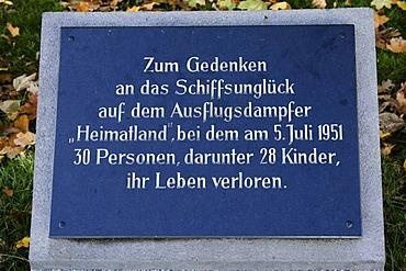 Memorial plaque, Treptow, Berlin, Germany
