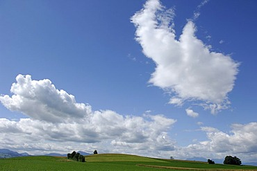 Cloud formation in the middle lands of Central Switzerland, Zug, Switzerland