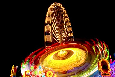 Long Time exposure at a fair near Neu-Ulm, Bavaria, Germany