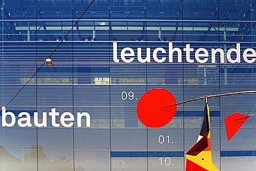 Glass building in Stuttgart, Baden-Wuerttemberg, Germany