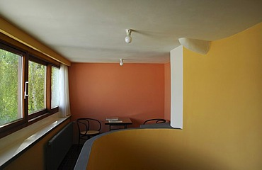 Interior sample dwelling in the house of the architect Le Corbusier - architectural monument Weissenhofsiedlung Stuttgart Baden Wuerttemberg Germany