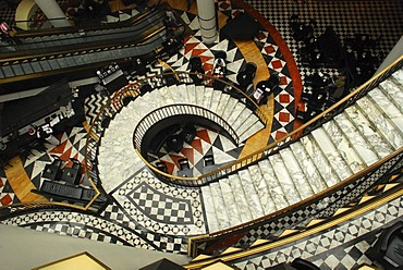 Inner court shopping centre Quartier 206 Friedrichstrasse Berlin Germany