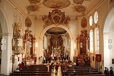 Palace chapel Altshausen residence of the house Wuerttemberg, Upper Swabia Baden Wuerttemberg Germany