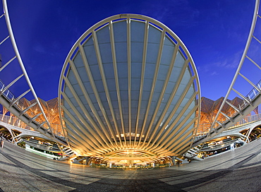 Garo de Oriente Railway Station designed by architect Santiago Calatrava, Lisbon, Portugal