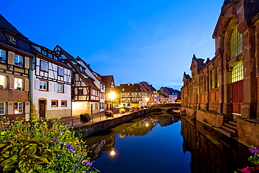 Evening atmosphere, Petite Venise, Colmar, Alsace, France, Europe