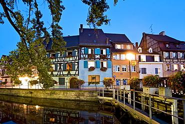 Evening atmosphere, Petite Venise, Colmar, Alsace, France, Europe