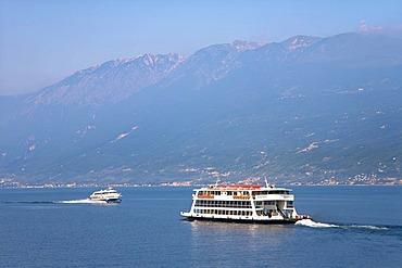 Ferry boat, Lake Garda, Italy, Europe