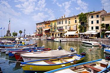 Harbour, Lazise, Lake Garda, Venetia, Italy, Europe