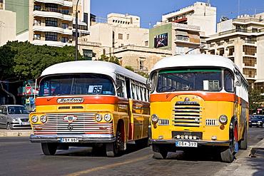 Buses, Sliema, Malta, Europe