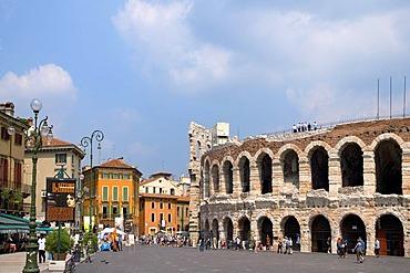 Arena, Piazza Bra, Verona, Venice, Italy, Europe