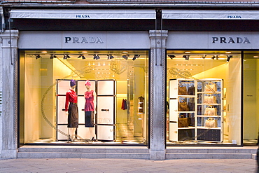 Window Display, Prada, Fashion store, Venice, Venezia, Italy, Europe