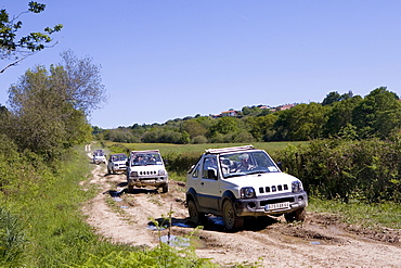 All-terrain vehicle, Labourd Region, Basque Country, South France, France, Europe