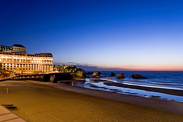 Hotel Bellevue on the Grande Plage, Biarritz, Basque Country, South France, France, Europe