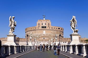 Mausoleum of Hadrian also known as Castel Sant'Angelo, Rome, Latium, Italy, Europe