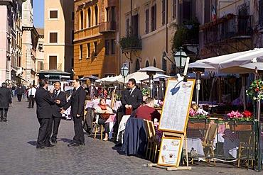 Restaurant, Piazza Navona Square, Rome, Latium, Italy, Europe
