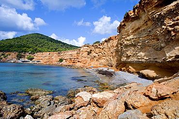 Sa Caleta Bay, Ibiza, Balearic Islands, Spain, Europe