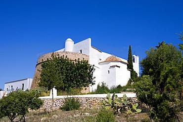 Es Puig de Misa Church, Santa Eularia des Riu, Ibiza, Balearic Islands, Spain, Europe
