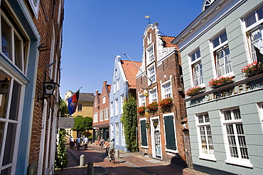 Historic buildings in the historic city centre of Leer, East Frisia, Lower Saxony, Germany, Europe