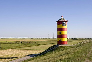 Pilsum Lighthouse, Pilsum, Krummhoern, East Frisia, Lower Saxony, Germany, Europe