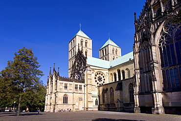 St. Paul's Cathedral, Domplatz Square, Muenster, North Rhine-Westphalia, Germany, Europe