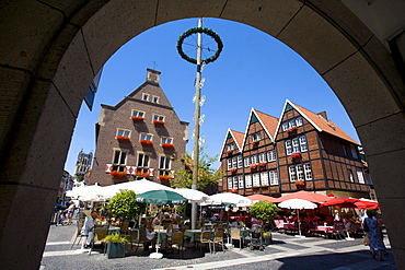 Restaurants located at Spiekerhof Courtyard, Muenster, North Rhine-Westphalia, Germany, Europe