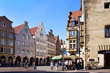Prinzipalmarkt, Muenster, North Rhine-Westphalia, Germany, Europe