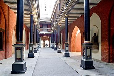 Corridor in the city hall, Stralsund, Baltic Sea, Mecklenburg-Western Pomerania, Germany, Europe