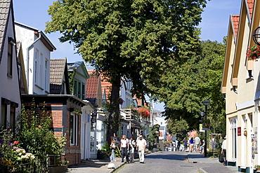 Houses on Alexandrinenstrasse Street, Warnemuende, Rostock, Mecklenburg-Western Pomerania, Germany, Europe