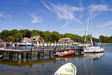 Harbour, Kloster, Hiddensee Island, Baltic Sea, Mecklenburg-Western Pomerania, Germany, Europe