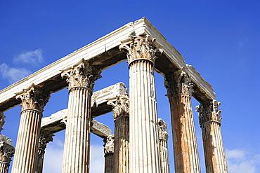 Stone columns, Olympieion, Athens, Greece