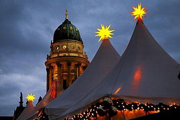 Christmas fair at the Gendarmenmarkt Deutscher Dom Berlin Germany