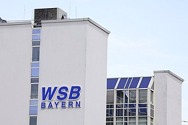 WSB company sign on office building