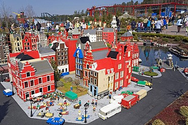 Urban buildings made of Lego bricks, Legoland Park near Guenzburg, Germany